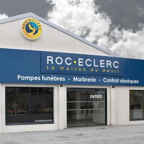 façade de la boutique Roc-Eclecr Pompes funèbres Sud Méditéranée